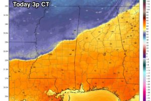 Colder Air For North Alabama; Some Rain At Times