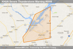Severe Thunderstorm Warning Continues For Parts Of Marshall County Until 7:00AM
