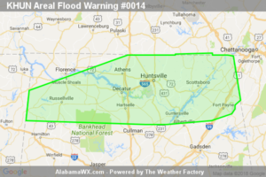 Areal Flood Warning Expired For Parts Of Colbert, Cullman, Dekalb, Franklin, Jackson, Lauderdale, Lawrence, Limestone, Madison, Marshall, Morgan, And Franklin (TN) Counties