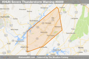 Severe Thunderstorm Warning Issued For Parts Of Dekalb, Jackson, And Marshall Counties Until 7:15AM