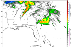 Unsettled Weekend; Large Hail, Possibly Tornadoes Late Monday for Alabama