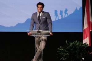 Cam Newton's Leadership Message Resonates With Boy Scouts