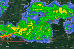 Rain and Storms Over Central and North Alabama, Severe Weather Stays to the South