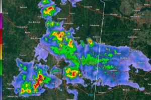 Noisy Storms Entering Northwest Alabama