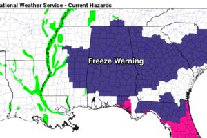 Freeze Warning Tonight; Rain Returns This Weekend