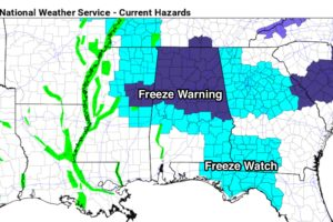 Freeze Warning For North/Central Alabama Tonight
