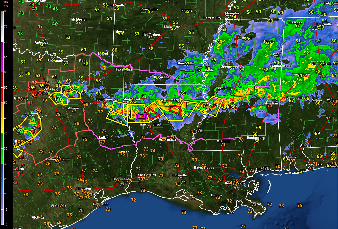 I 20 Louisiana Map.Pds Tornado Warning In Louisiana Central Alabama Remains Stable