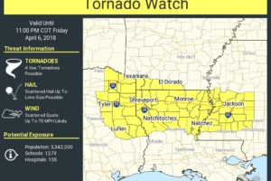 Tornado Watch Issued To Our West