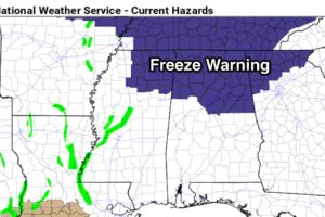 Freeze Warning For North Alabama