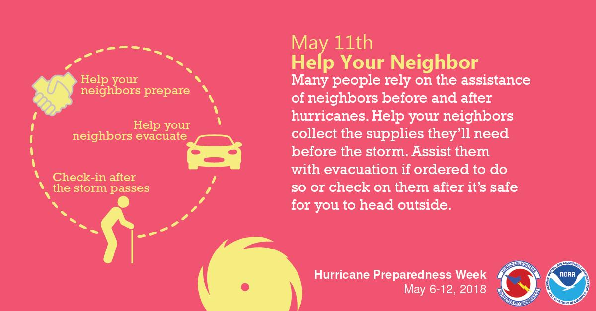 National Hurricane Preparedness Week: Day 6 – Help Your