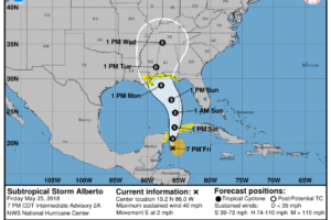 Alberto Forecast To Strengthen While Moving Northward Over The Gulf Of Mexico