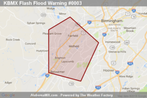 Flash Flood Warning Issued For Parts Of Jefferson County Until 9:15PM