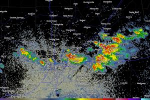 Storms Pushing West Over the I-20 Corridor
