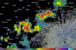 Storms Intensifying Over Northwest Alabama
