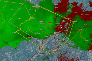 Strong Winds Moving into the Birmingham Area