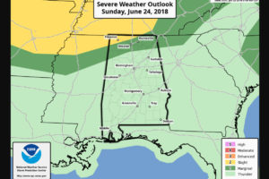 Finally, A Quiet Midday Update for Central Alabama, Small Severe Weather Risk for Tennessee Valley Late Tonight