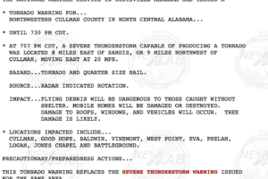 The 6.22.18 Cullman County Tornado