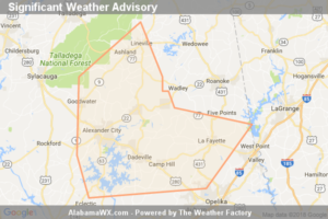Significant Weather Advisory For Northeastern Elmore,  Northwestern Lee, Tallapoosa, Southern Chambers, Eastern Coosa And Southern Clay Counties Until 5:00 PM CDT