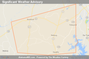 Significant Weather Advisory For Southeastern Coosa County Until 4:30 PM CDT