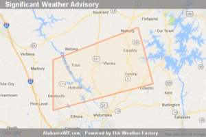 Significant Weather Advisory For Northwestern Elmore And Southeastern Coosa Counties Until 5:00 PM CDT
