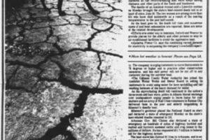 On This Date in 1980:  Alabama Broiling in a Tremendous Heat Wave