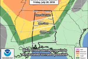 Severe Storms Possible Tonight/Tomorrow