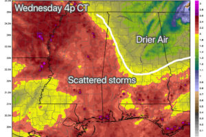 Drier Air Creeps Into North Alabama Tomorrow