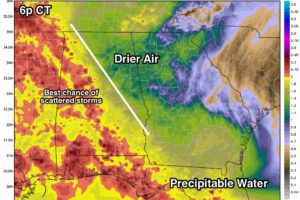 Deeper Moisture Over West And South Alabama