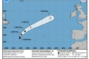 Ernesto Moving North-northeastward Over The North-central Atlantic