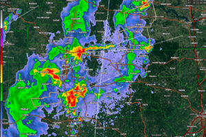More Strong Storms About to Move Into Northwest Alabama;  Not Severe At This Time