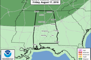 Alabama's Weather Wet At Times Through The Weekend