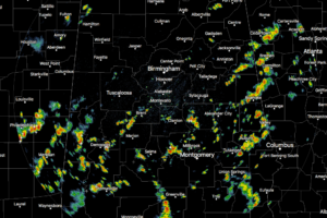 A Good Bit Of Showers Out There: It's The Midday Nowcast For Central Alabama