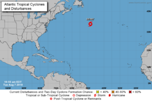 Debby Becomes Post-tropical