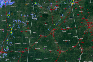 An Alabama Weather Update at 12:45 p.m.:  A Few Showers Beginning to Form