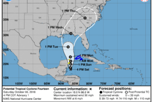 Michael Becomes A Storm-force Post-tropical Low As It Moves Away From The United States