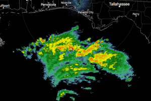 Michael's Northern Eye Wall Now Visible On Eglin AFB Radar
