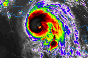 At 10:00 PM, Strong Category 3 Hurricane Michael Continues To Strengthen