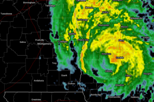 Michael Continues To Weaken, Heavy Rains Continue To Fall Over Georgia