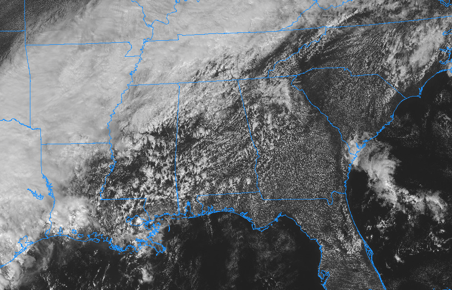 Midday Finds Us With Some Sun Some Clouds Some Light Showers - Us-cloud-cover-map