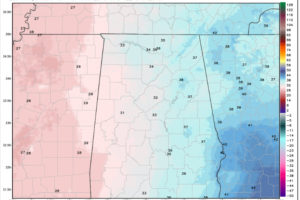 Freeze Watches Issued for Parts of Alabama For Wednesday Night, Thursday Morning