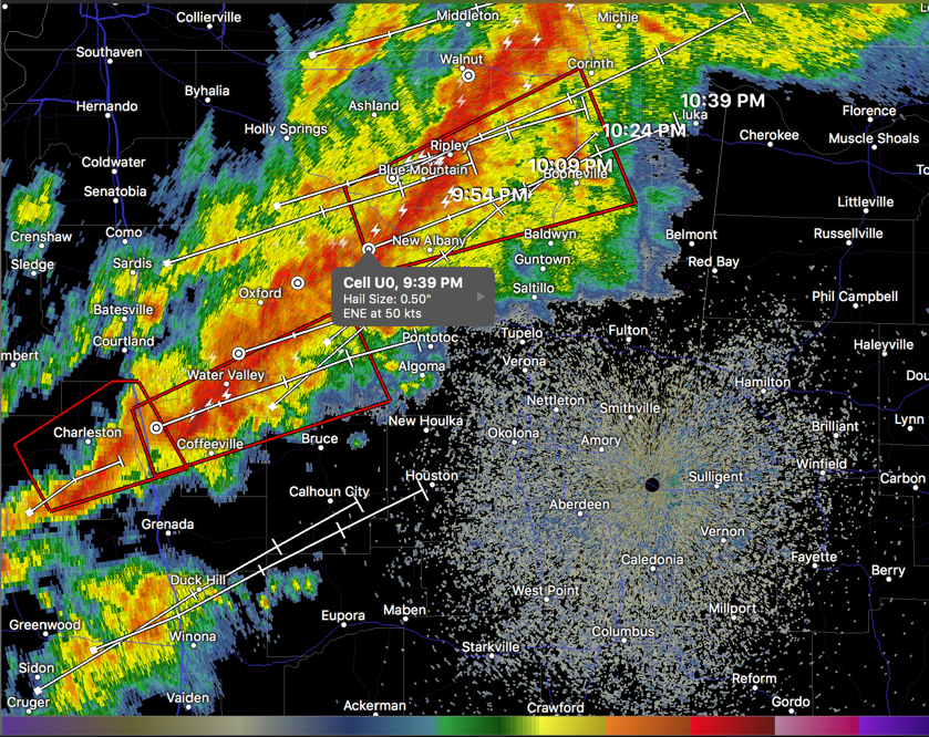 Potentially Tornadic Storms Now 30 Minutes Away from