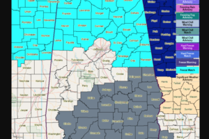 Freeze Warning for Parts of North and Central Alabama Tonight; Dense Fog Advisory this Morning for Southeastern Half of Alabama