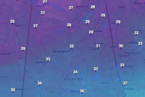 Freeze Warnings, Frost Advisory for Tonight for Central Alabama