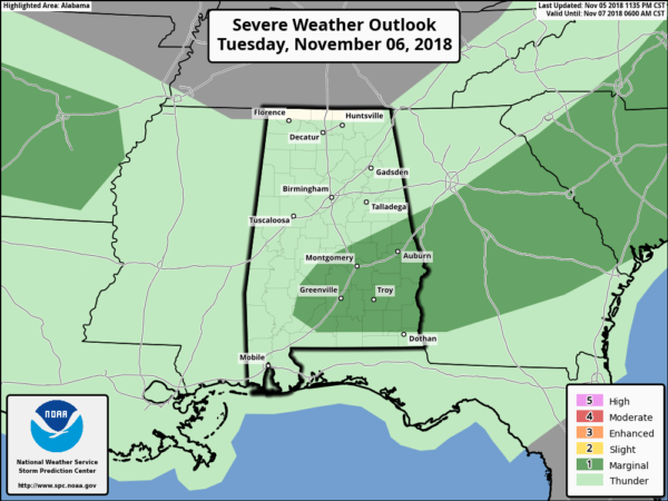 James Spann: Alabama weather improves later today - Alabama