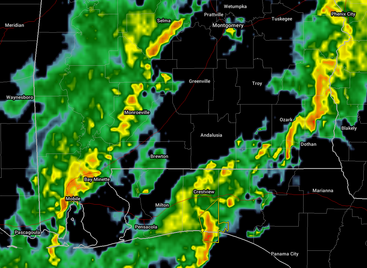 Map Of South Alabama And Florida Panhandle.Severe Threat Starting To Lessen Over South Alabama The Alabama