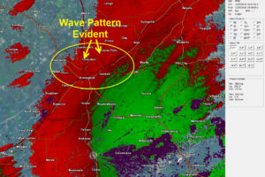 A Look at the Saturday, December 8th Wake Low and Gravity Waves that Caused High Winds Across Central Alabama