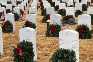 Hundreds Turn Out To Support Wreaths Across America At Alabama National Cemetery