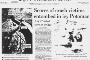 January 13, 1982:  Alabama Winter Storm and D.C. Plane Crash