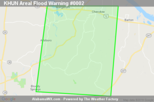 Areal Flood Warning Extended For Parts Of Colbert County Until 5:30PM