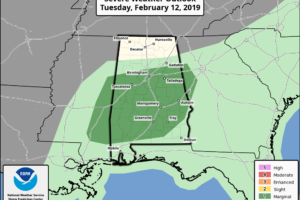 Wet/Stormy Weather For Alabama Today